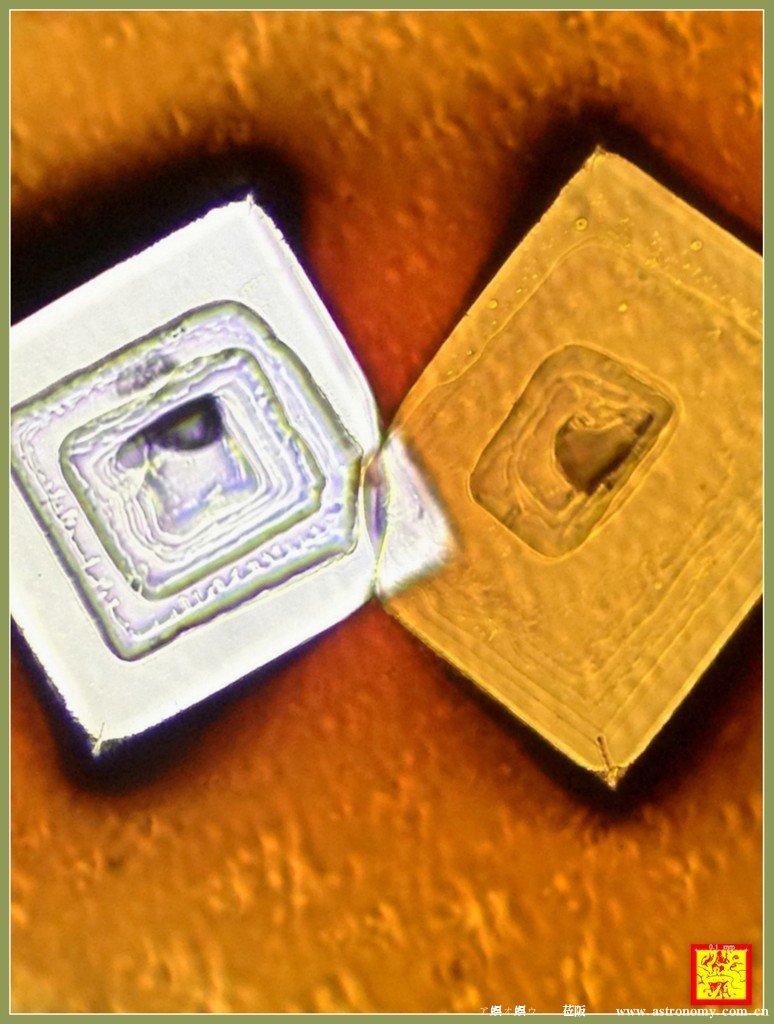 盐晶体显微放大150x摄影--真金白银