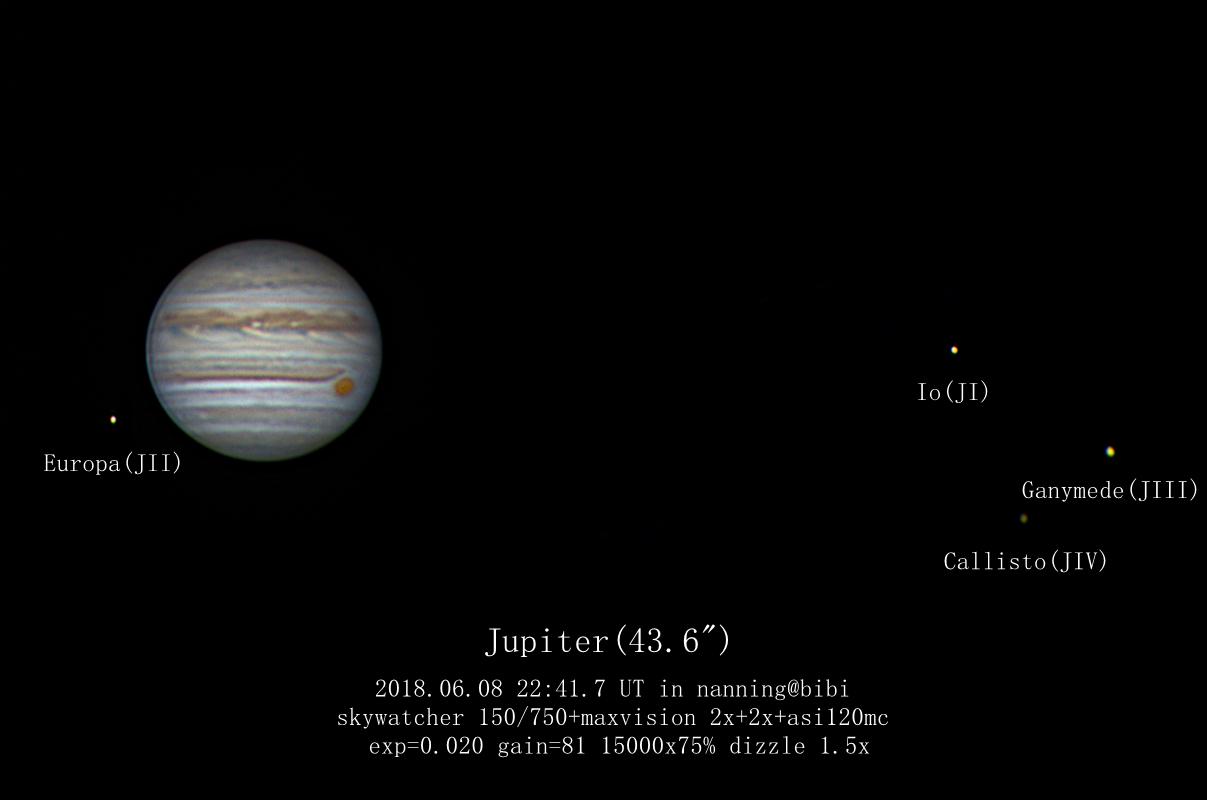 木星四大卫星大红斑全家福