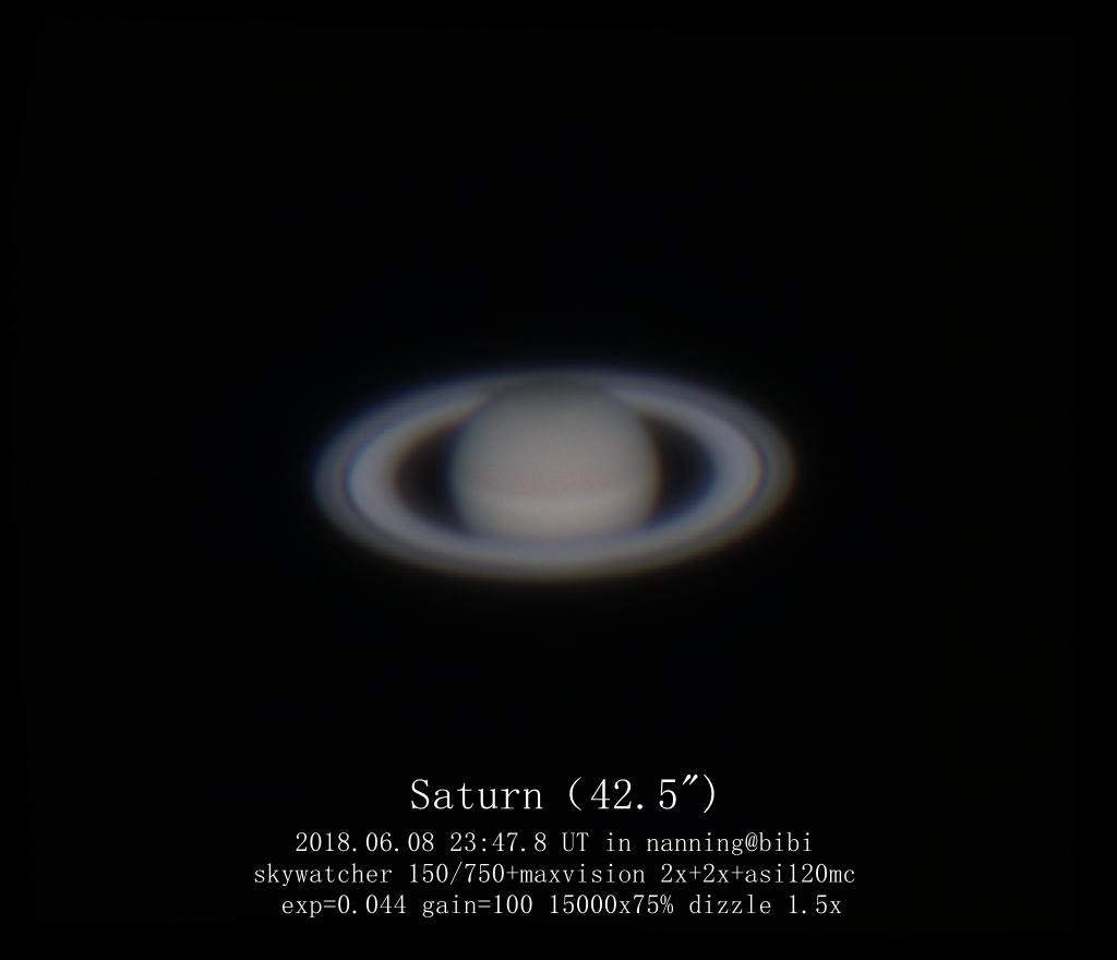 土星很美可惜拍不到卫星